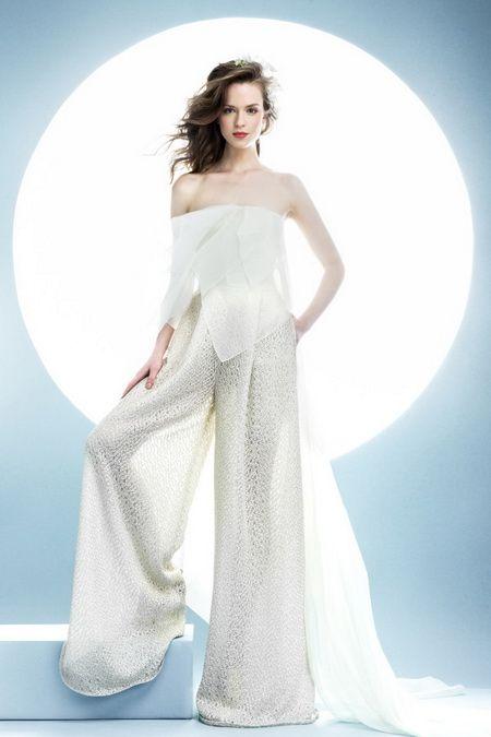 2016年婚纱趋势:帅气潇洒的新娘
